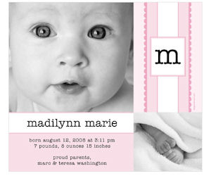 Magnet Street Birth Announcement Magnet
