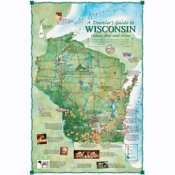 Wisconsin Cheese, Beer and Wine Map