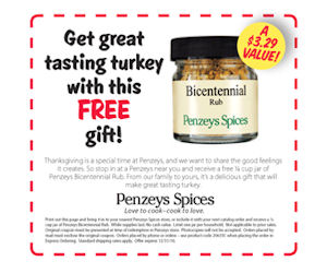 penzeys spices   coupon for a free jar of bicentennial rub