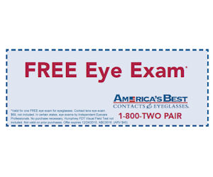 america 39 s best contacts eyeglasses coupon for a free