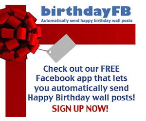 Automatic Facebook Birthday Posts