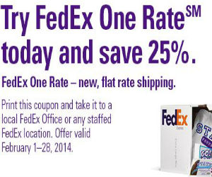 Fedex coupon for 25 off one rate printable coupons for Fedex printing coupon codes