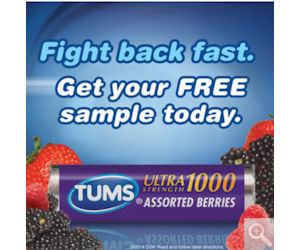 Free Sample of Tums Ultra Maximum Strength Tablets