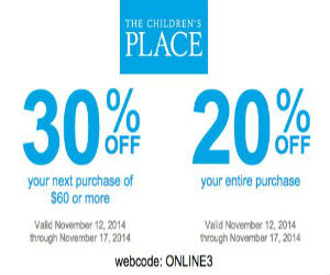 Childrens place coupons 30 off