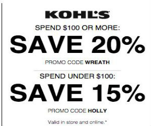 Kohl 39 S Coupon For 15 20 Off Printable Coupons