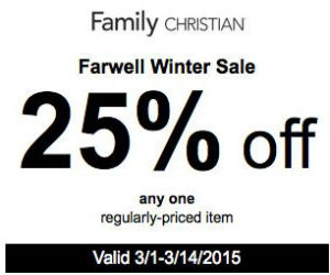 Family christian online coupon code