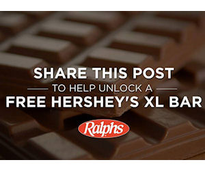 Ralph 39 s share to unlock a free hershey 39 s xl chocolate for Food s bar unloc