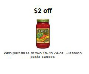 Target classico pasta sauce coupon