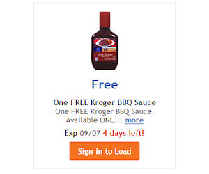 free bottle of kroger bbq sauce at ralph s   free product