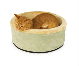 k&h thermo-kitty heated cat bed 16-inch