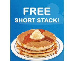 Jul 01,  · IHOP will be offering Short Stack of Buttermilk pancakes for just $1 on August from 7AM-7PM. Free Short Stack Pancakes Today only, visit Ihop restaurants and get a free short stack of their original buttermilk pancakes. IHop Coupon – BOGO Free Entree Print coupon, purchase one entree & two beverages and get your second entree free/5(8).