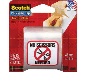 scotch tear by hand mailing packaging tape