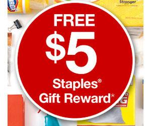 staples reward login