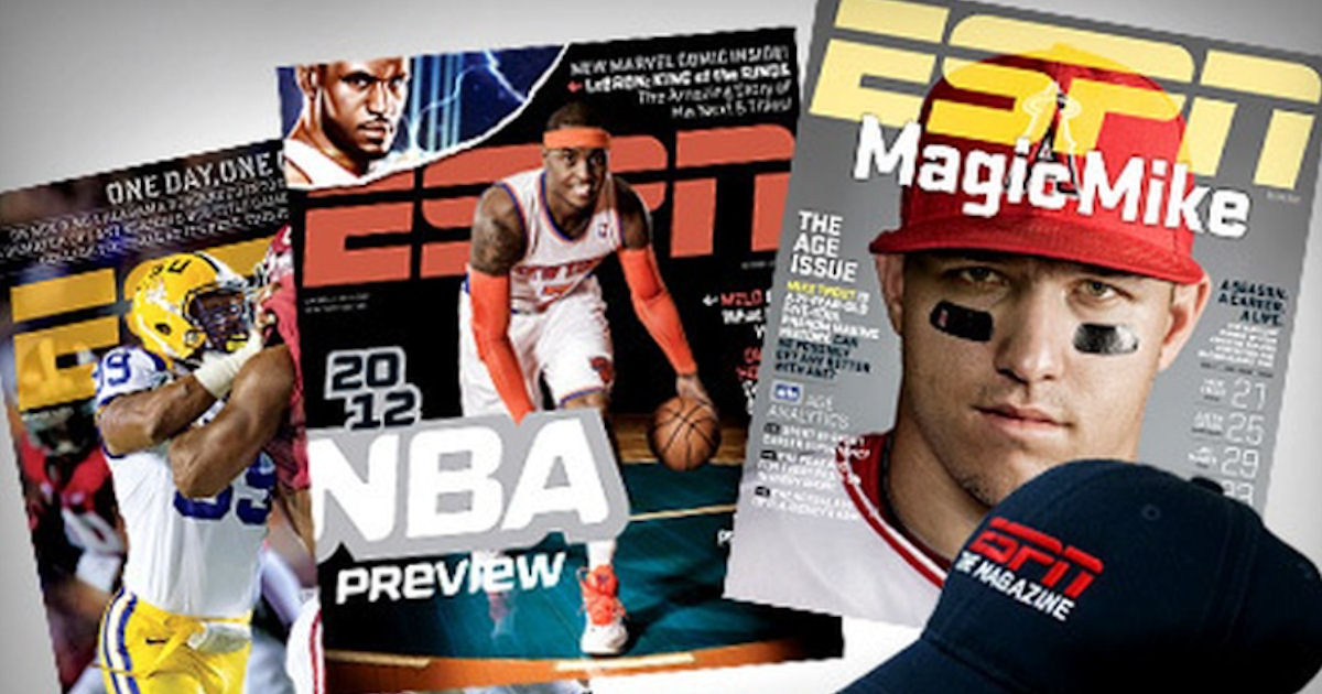 43300836e41 Another free magazine subscription with RewardSurvey! Start a free one year  subscription to ESPN magazine. Register with RewardSurvey and take their  survey ...