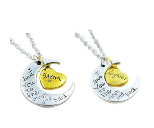 Mom Daughter Necklace at Amazon