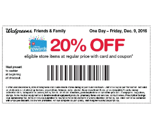 Save 20% off at Walgreens