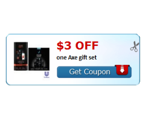 Axe gift set coupon deals