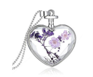 Flower Heart Pendant Necklac on Amazon