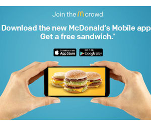 Free Sandwich with the McDonald's App - Free Product Samples