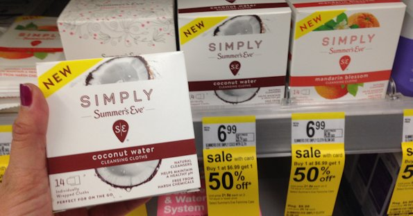Simply Summer's Eve Cloths at Walgreens