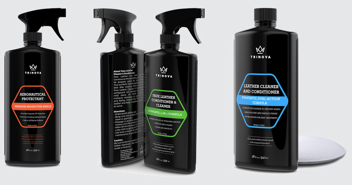 free trinova home automotive leather cleaning products
