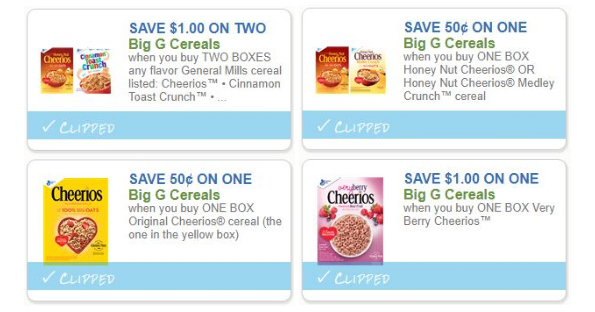 image relating to Cheerios Coupons Printable named Tremendous Personal savings upon Large G Cereals - Printable Discount coupons