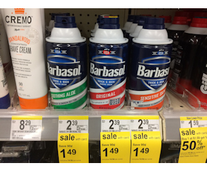 Barbasol Shave Cream at Walgreens