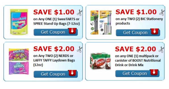 New Savings on BIC, Nerds and More