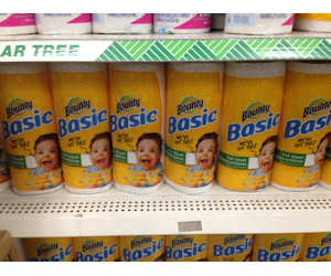 Bounty Basic Paper Towels at Dollar Tree