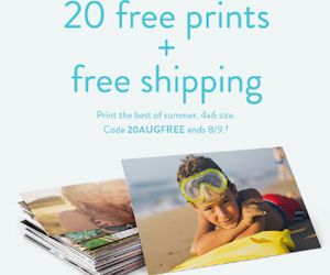 20 free 4 6 prints free shipping from snapfish free product samples