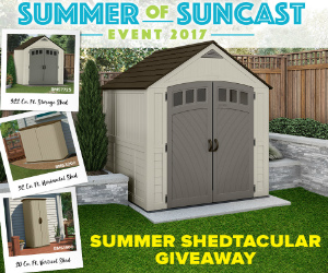 win a new suncast storage shed