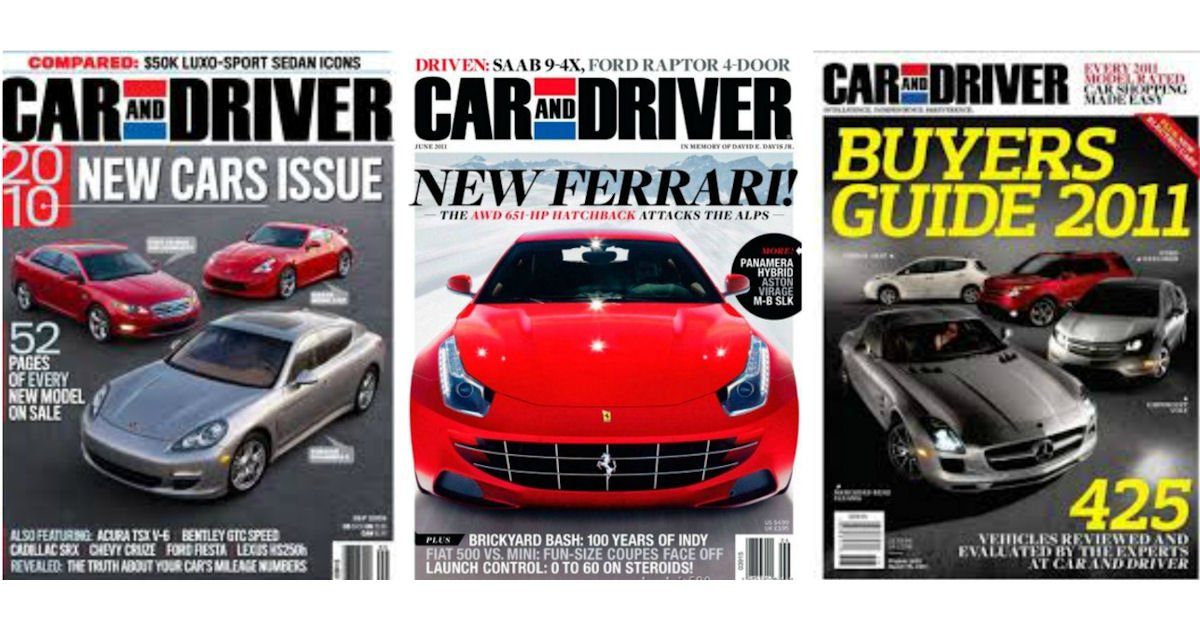 FREE Subscription to Car and D...