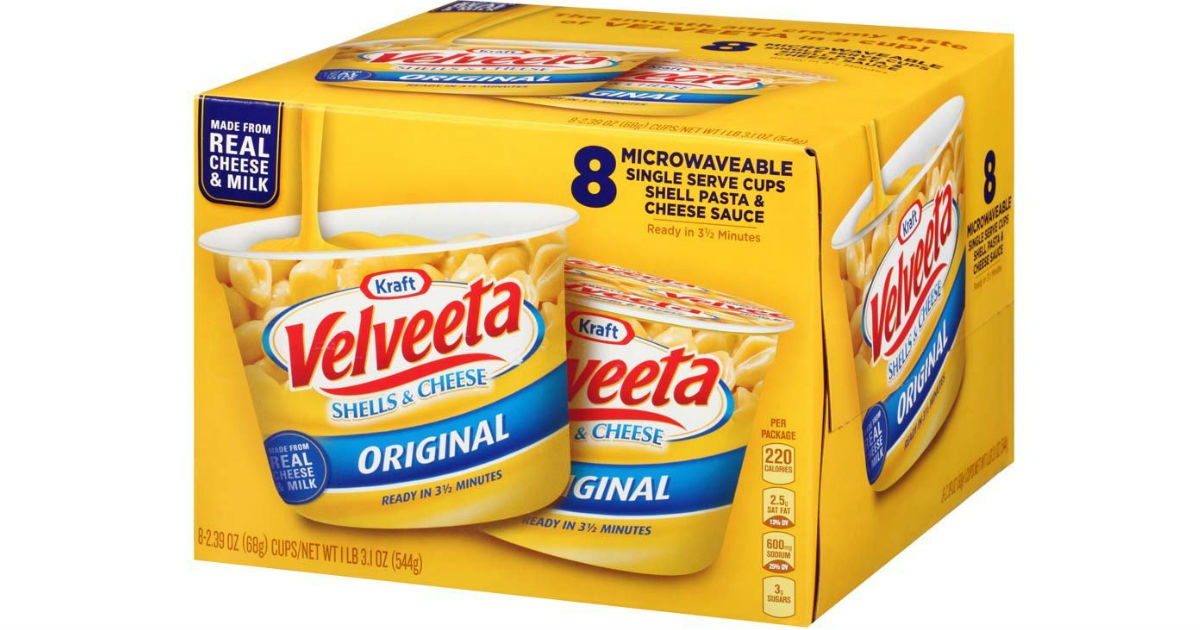 Kraft Velveeta Microwave Cups 8ct Only 5 33 Shipped