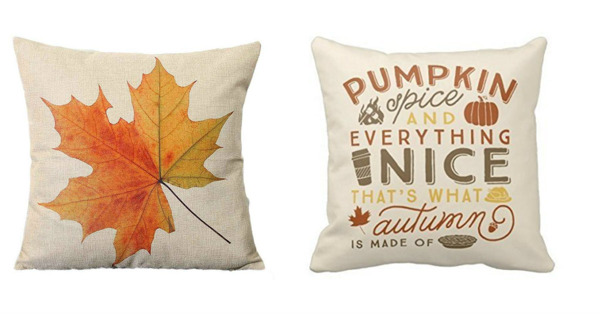 Fall Pillow Covers on Amazon