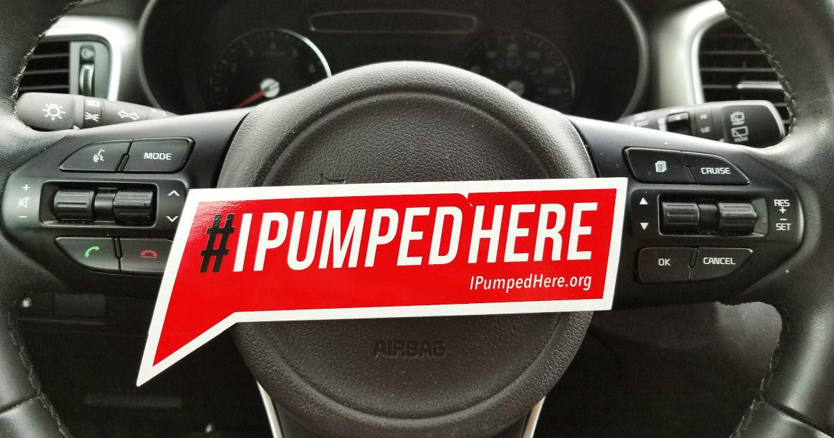 FREE #IPumpedHere Sticker...