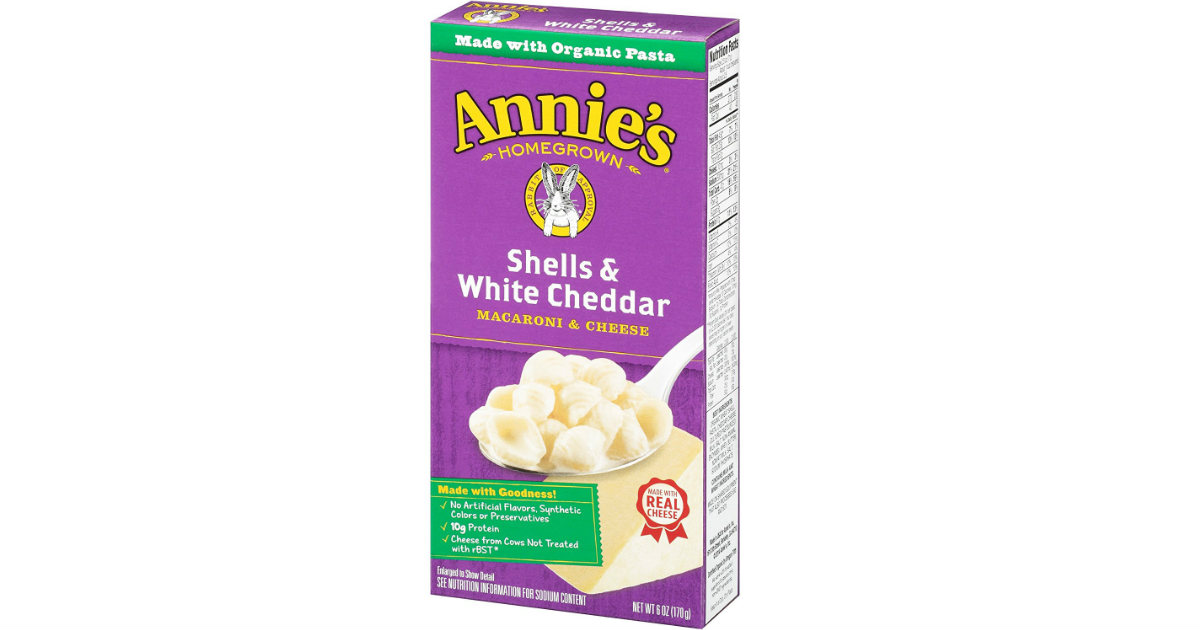 Annie's Macaroni on Amazon