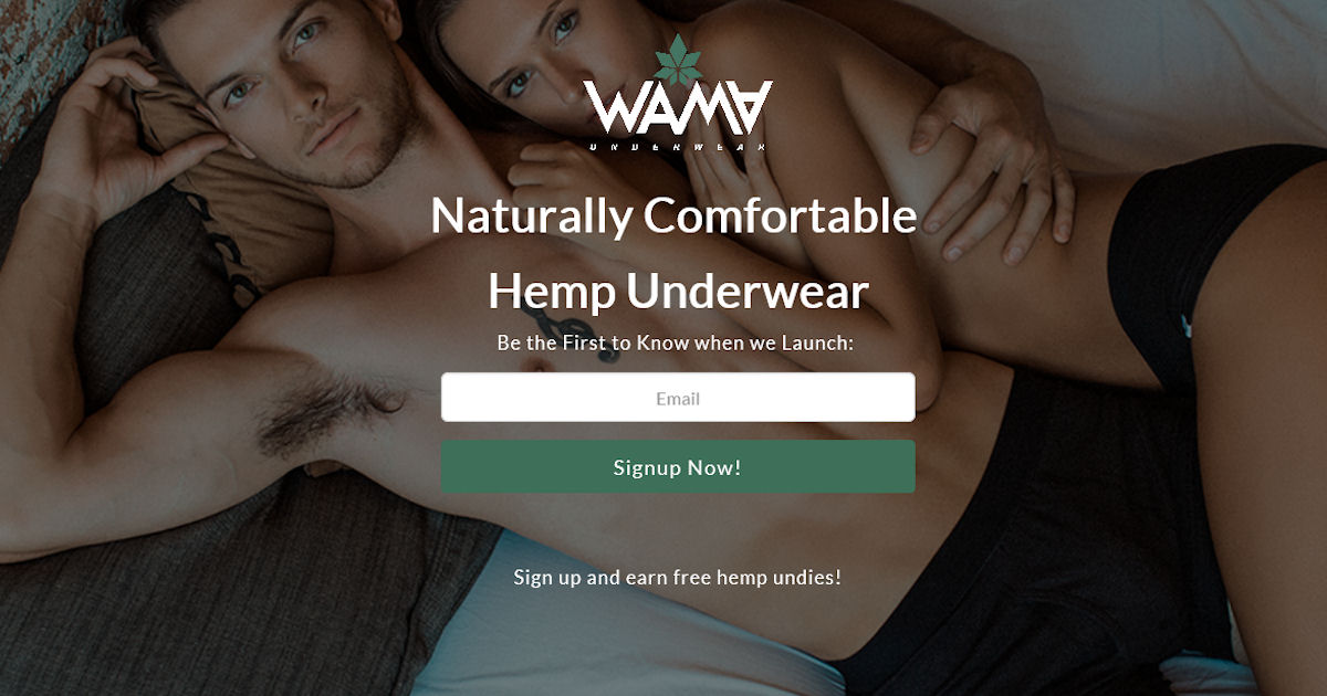 FREE Pairs of WAMA Hemp Underw...