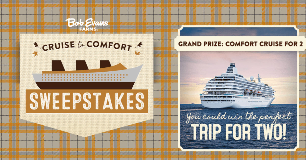 Win A Cruise Or Bob Evans Gift Card Instantly