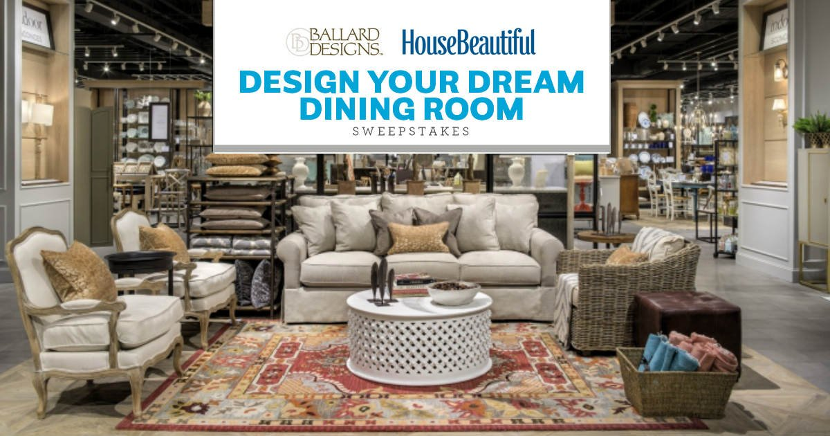 House Beautiful Sweepstakes Custom Win A $7000 Ballard Designs Gift Card  Free Sweepstakes Contests Inspiration Design