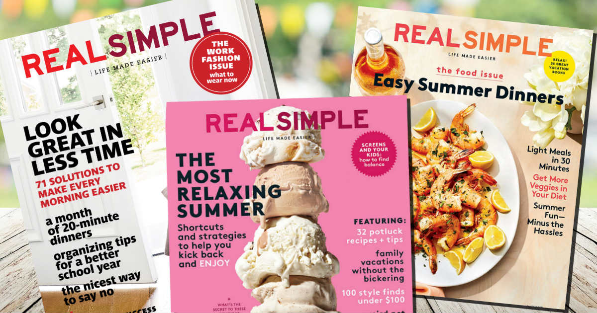 free subscription to real simple magazine free product samples