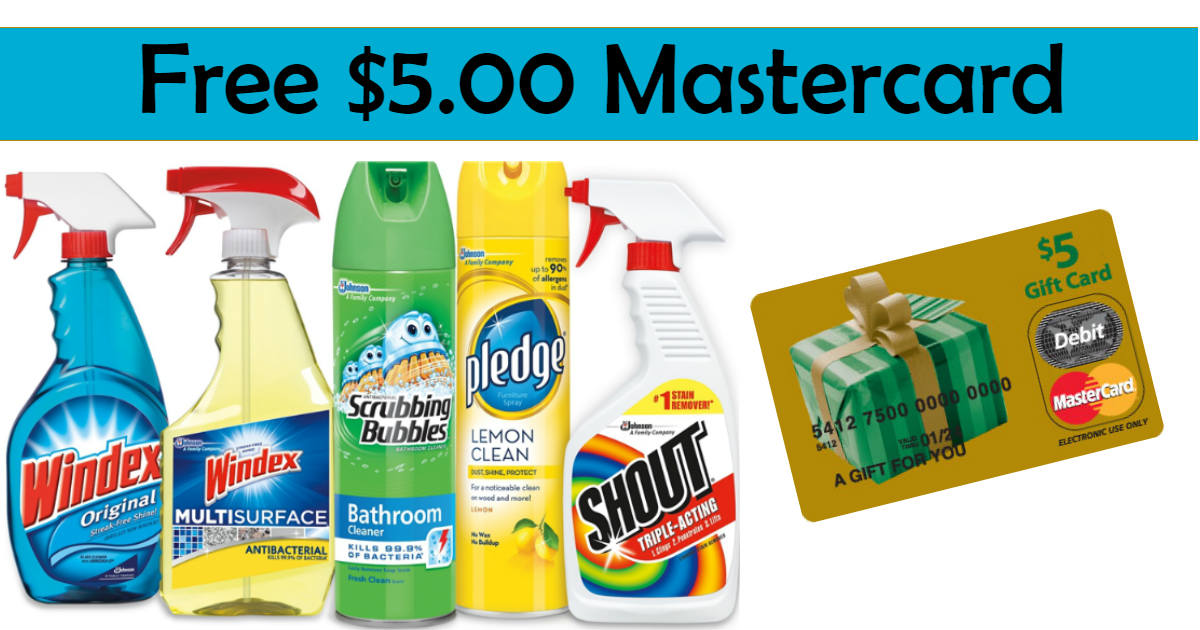 Free $5 Mastercard With The Purchase of SC Johnson Products