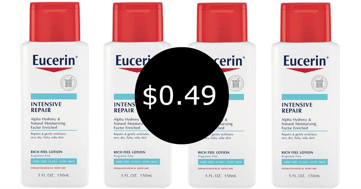 photograph relating to Eucerin Printable Coupon referred to as Eucerin Lotion at CVS for $0.49, Inventory Up Cost - Printable