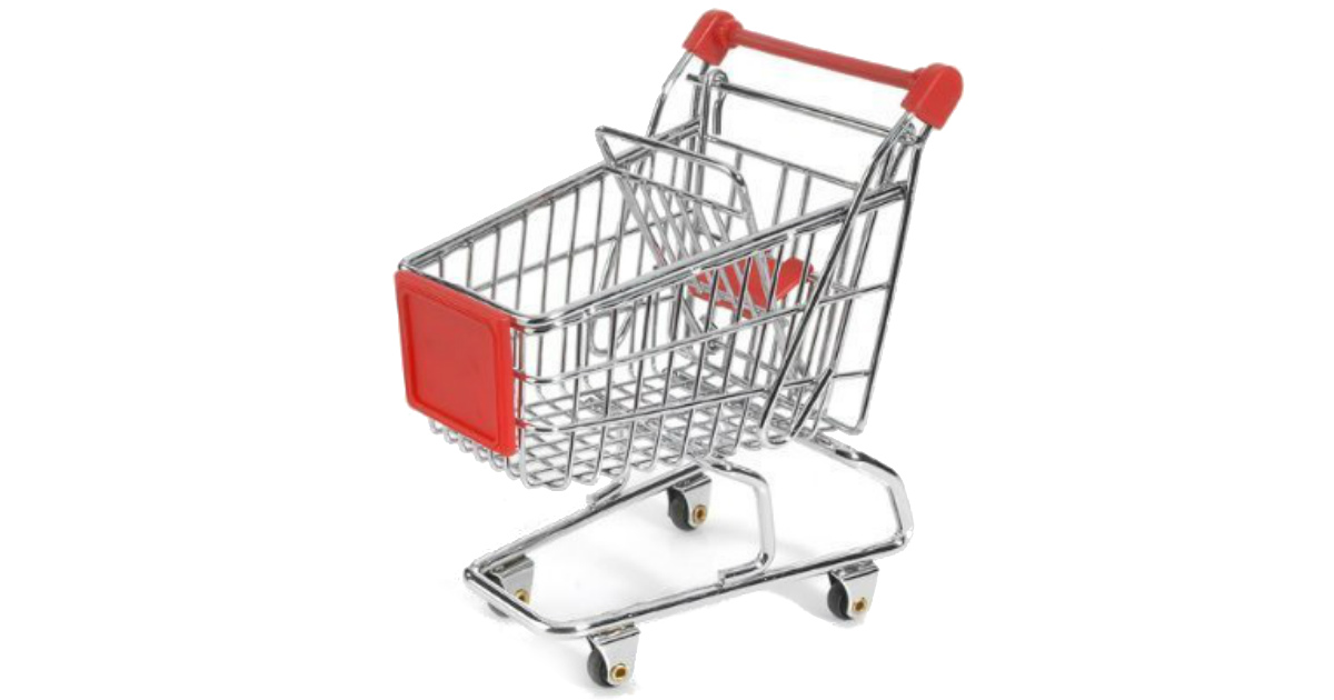 Mini Shopping Cart on Amazon