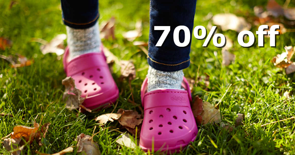 13fded0a97cc0 Zulily has a big Sale with up to 70% off Crocs shoes and accessories for  kids. To find these items just search for the Shop Name