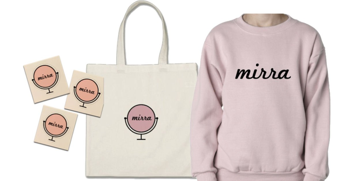 Free Mirra Stickers Compact Mirror Tote Bag More