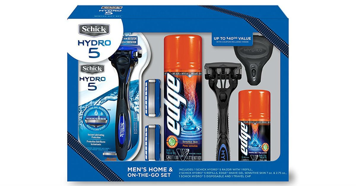 Schick Hydro Gift Set on Amazon
