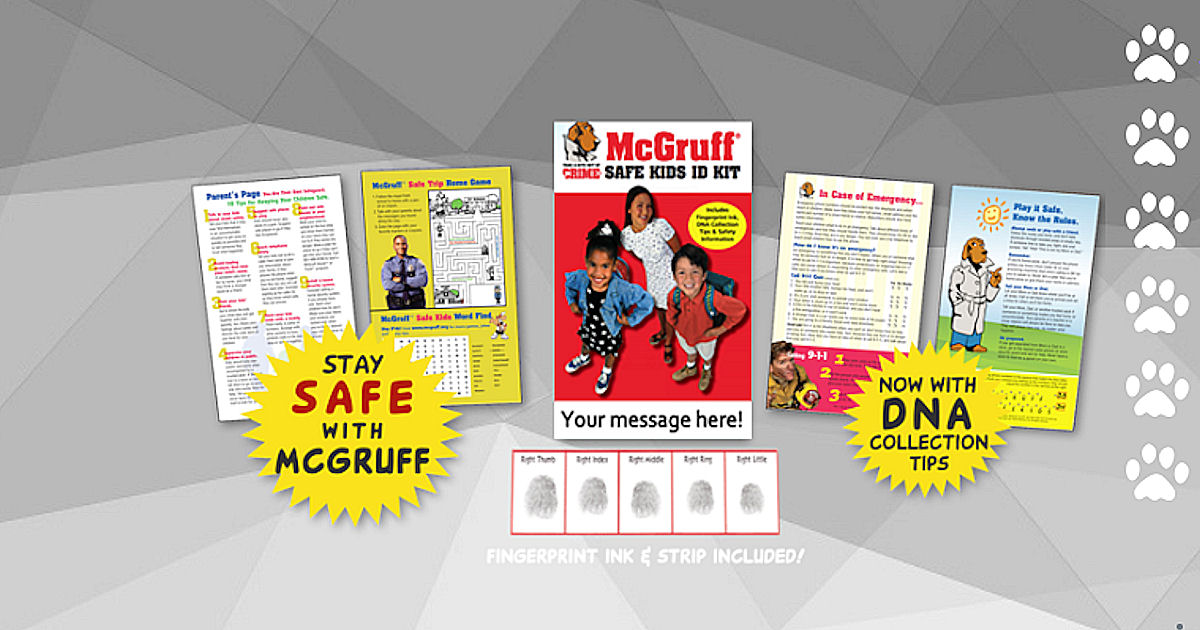 FREE McGruff Safe Kids ID Kit.