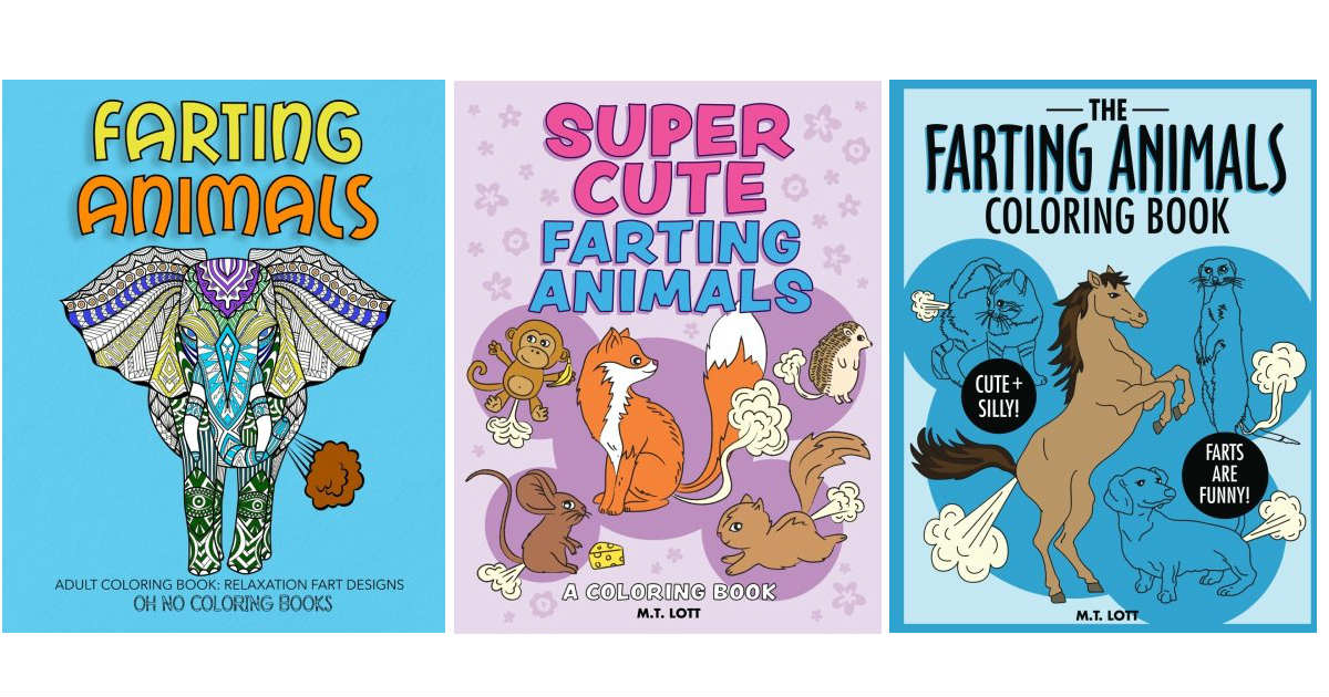 Farting Animal Coloring Book Under 4 99 On Amazon 5 20