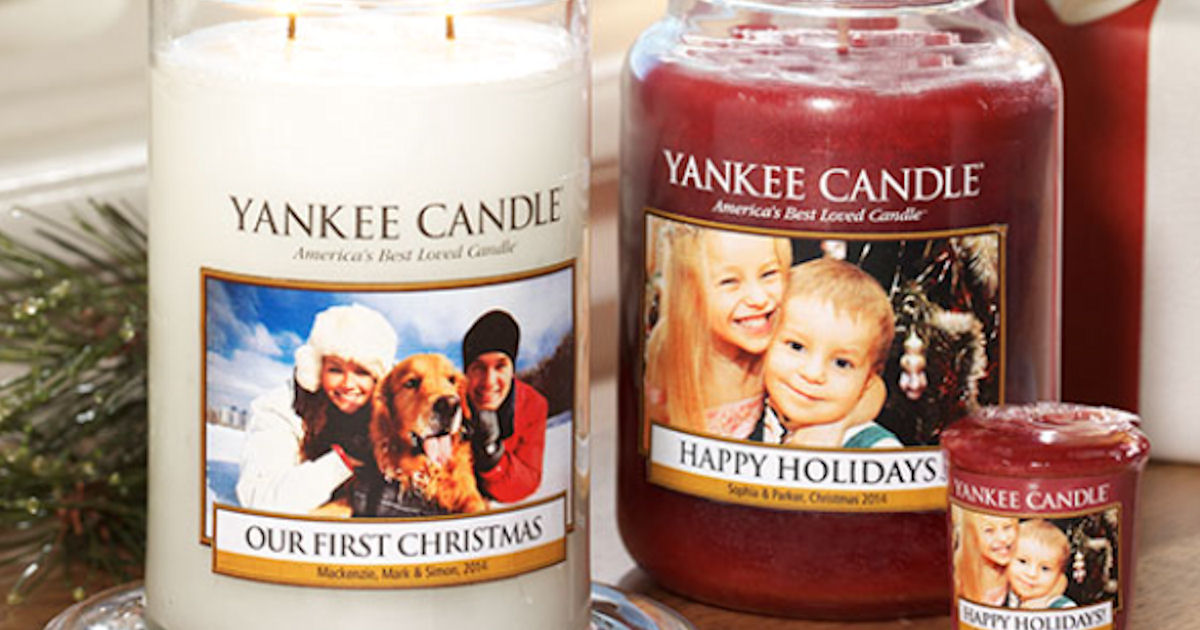 free personalized photo label at yankee candle free product samples