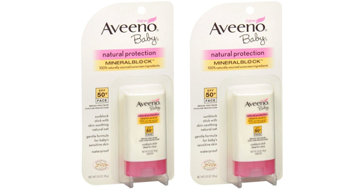 free aveeno baby sunscreen stick
